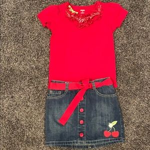 Gymboree Cherry outfit in size 6